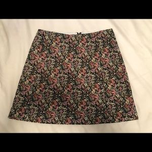 Aritzia Floral Brocade Mini Skirt